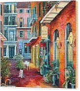 A French Quarter Evening Wood Print