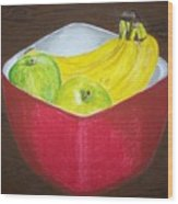 A Fruit A Day Wood Print