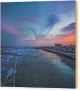 A Galveston Sunset Wood Print