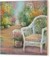 A Garden Chair Wood Print