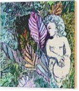 A Garden Muse Wood Print