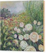 A Garden Romance Wood Print