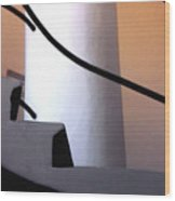 A Gaudi Staircase Wood Print