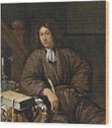 A Gentleman At His Desk Wood Print