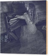 A Ghostly Tune Wood Print