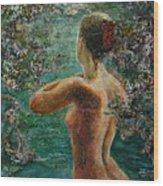 A Girl In Lake Wood Print