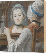 A Girl Wearing A Bonnet Wood Print