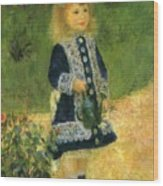 A Girl With A Watering Can 1876 Wood Print