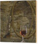 A Glass Of Woodford Wood Print