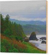 A Glimpse Of Oregon Wood Print