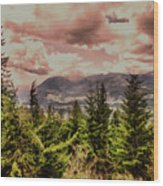 A Glimpse Of The Mountains Wood Print