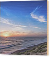 A Glorious Sunset At North Ponto, Carlsbad State Beach Wood Print