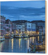 A Glowing Venice  Evening Wood Print