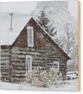 A Golden Winter Wood Print