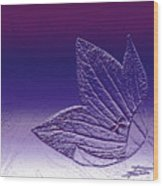 A Good Day For Purple Wood Print by Barbara  White