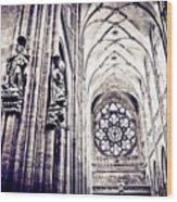 A Gothic Church Wood Print