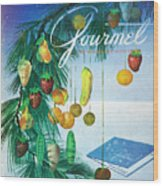 A Gourmet Cover Of Marzipan Fruit Wood Print