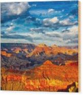 A Grand Canyon Sunset Wood Print