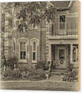 A Grand Victorian 3 - Sepia Wood Print