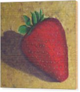 A Great Big Strawberry Wood Print