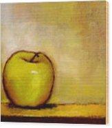 A Green Apple Wood Print