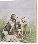 A Group Of French Hounds Wood Print