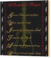A Guitarist Prayer_2 Wood Print by Joe Greenidge