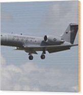 A Gulfstream C-20h Executive Transport Wood Print by Timm Ziegenthaler