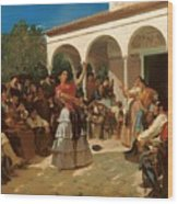 A Gypsy Dance In The Gardens Of Alcazar Wood Print