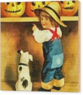 A Happy Halloween Puppy Wood Print