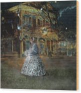 A Haunted Story In Dahlonega Wood Print