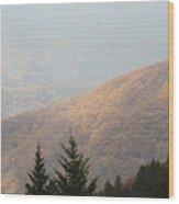 A Hazy Autumn Day Wood Print