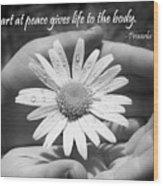 A Heart At Peace Wood Print