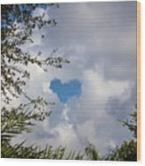 A Heart In The Sky Wood Print