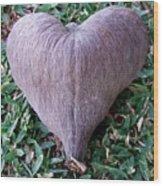 A Heart Never Dies Wood Print