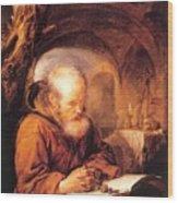 A Hermit Praying 1670 Wood Print