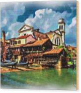 A Hidden Place In Venice Wood Print