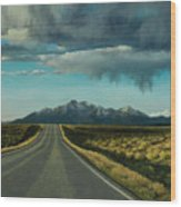 A Highway To The Rockies Wood Print