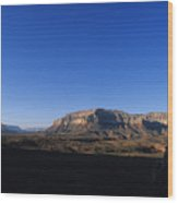 A Hiker Overlooks Tuckup Canyon Wood Print