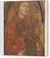 A Holy Bishop Wood Print