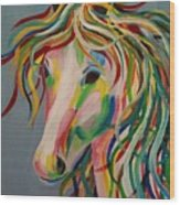 A Horse Of A Different Color Wood Print