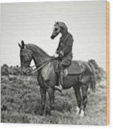 A Horse Ride Wood Print