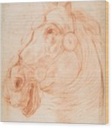 a Horse's Head Wood Print