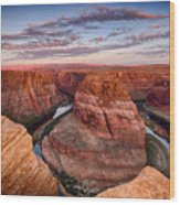 A Horseshoe Bend Morning  Wood Print