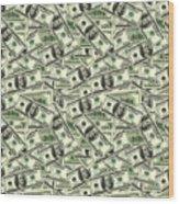A Hundred Dollar Bill Banknotes Wood Print