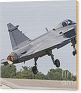 A Jas-39 Gripen Of The Swedish Air Wood Print