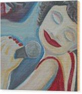 A Jazz Singer Wood Print