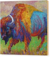 A Journey Still Unknown - Bison Wood Print