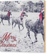 A Joyful Christmas Wood Print