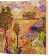 A Joyous Landscape Wood Print